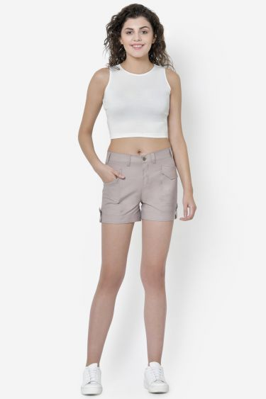 Nude Pink Cargo Shorts