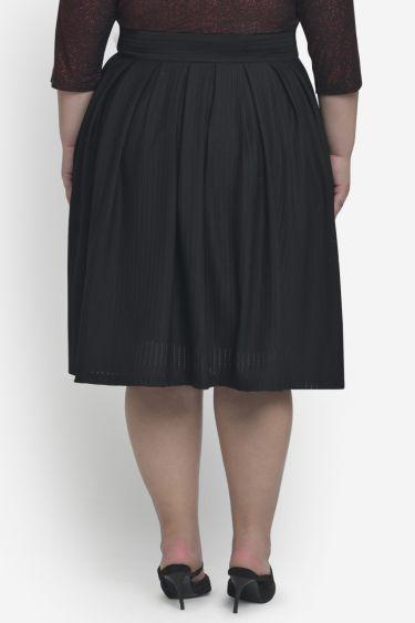 Black Box Pleat Perforated Skirt