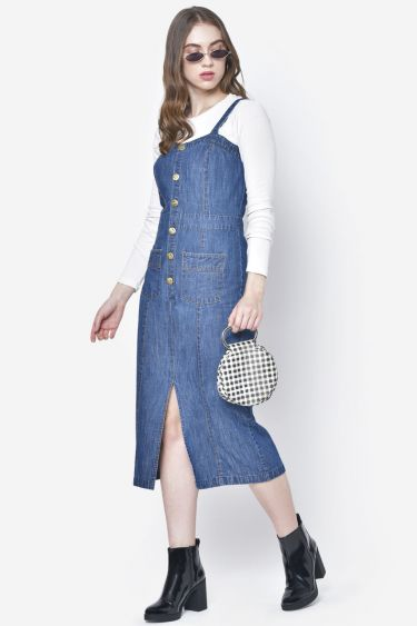 Denim Front Buttoned Dress