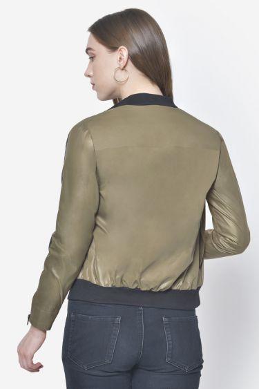 Khaki Lightweight Moto Jacket