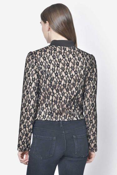 Beige Lace Short Jacket