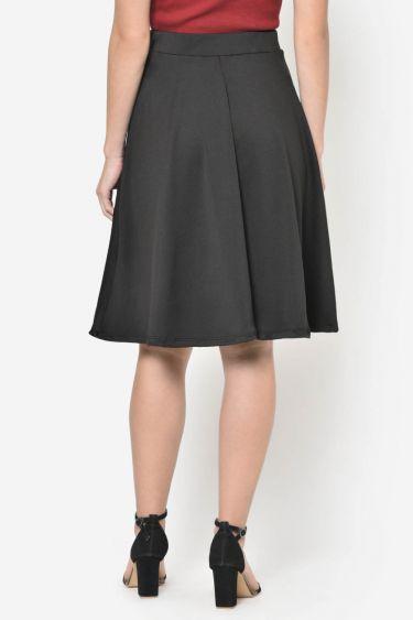 Black Flared Skater Skirt
