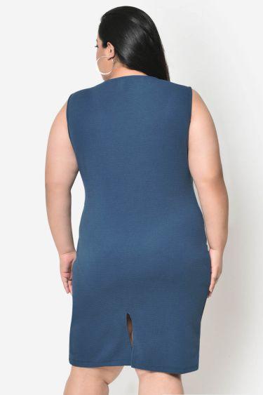 Turquoise bodycon plus size dress